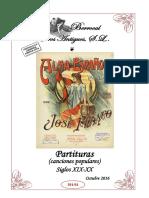 Oferta especial de Partituras (canciones populares) (s.XIX-XX)
