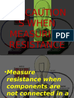 Precautions When Measuring Resistance