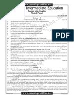 English Model Paper 3 Em