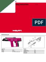 Hilti DX450 Nail Gun User Manual