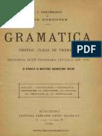 [1895] Odobescu, Alexandru I. (1834-1895) - Gramatica Pentru Clasa a III-A Primara