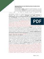 Contrato Administrativo de Prestación de Servicios Técnico Profesionales 2015