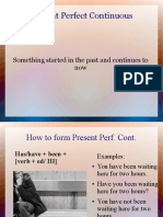 Present Perfect Continuos