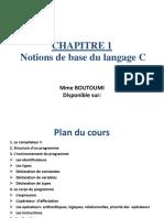Chapitre 1 - LangageC