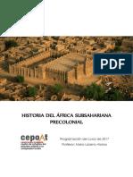 Curso de Historia de África Precolonial - 2017