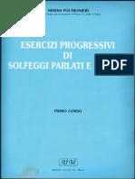I Corso Esercizi Progressivi Di Solfeggi Parlati E Cantati Nerina Poltronieri