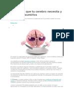 Alimentos Que Tu Cerebro Necesita y Cómo Consumirlos