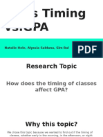 class timing vs gpa