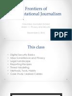 Computational Journalism 2016 Week 11