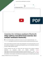 Conectar Dos Arduinos Mediante Bluetooth