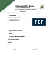 Formato de Informe Para Titulacion