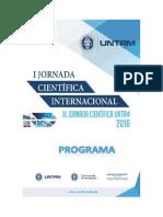 Programa de Jornada de Investigación 2016