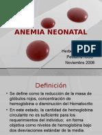 Anemia Neonal