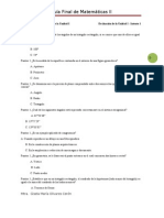 Examen Final Matemáticas II
