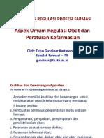 Aspek Legislasi & Regulasi Dalam Profesi Farmasi