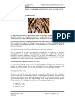 Proceso de Produccion Del Azucar Informe de Operaciones