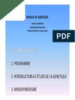 Medecine-Intro Genetique Monohybridisme