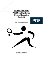 tennis grade 10 unit plan - nat