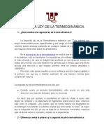 Trabajo de Termodinamica ( Segunda Ley de La Termodinamica)