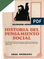 Giner, Salvador - Historia Del Pensamiento Social