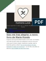 Komono Love Isso Me Traz Alegria o Novo Livro Ilustrado de Marie Kondo