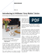 "Introducing LG Williams ""Grey Matter"" Series"