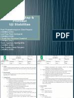 Prosedur Tetap & Protokol Uji Stabilitas