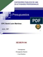 Costos y Presupuestos 2007 Sesion 04
