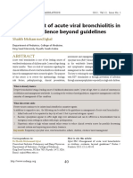 Management of Acute Viral Bronchiolitis In
