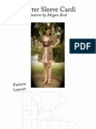 Flutter Sleeve Cardi Original Pattern and Tutorial