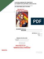 PROYECTO. Semana Bolivariana