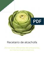 Recetario de alcachofa