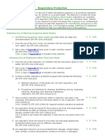 Respiratory Protection Checklist