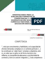 4. Orientaciones Para La Evaluación Formativa de Competencias y La Diversificación Según El Currículo Nacional de La Educación Básica