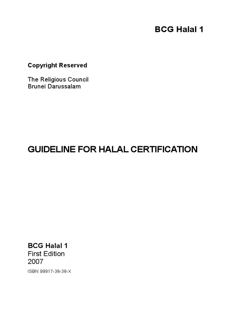 Guideline For Halal Certification Pdf Audit Hazard Analysis And