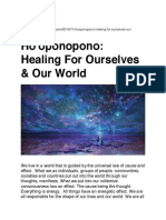 Ho'Oponopono...Healing for Ourself and World