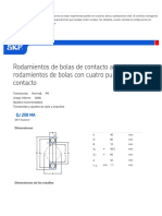 Rodamientos de Bolas de Contacto Angula... Cuatro Puntos de Contacto - QJ 208 MA