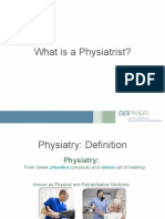 What is a Physiatrist Powerpoint