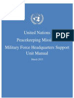 [United Nations Peacekeeping Missions Military FHQ Support Unit