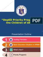 DEPED Priority Programs for ARMM