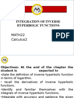 Lesson 10 Integration of Inverse Hyperbolic Function