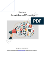 Case Study on Advertising and Promotion