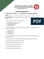 Examen Tenologia Segundo Bloque 2