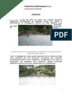 La Historia Del Club Deportivo Relámpagos. f. c.