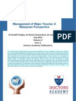Management of Major Trauma a Malaysian Perspective