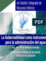 GOBERNABILIDAD Como Instrumento Para La Administración Del Agua