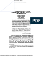 Thomas Donaldson and Lee Preston - The Stakeholder Theory of the Corporation - Concepts, Evidence, And Implications