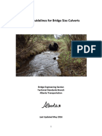 Design Guidelines for Bridge Size Culverts