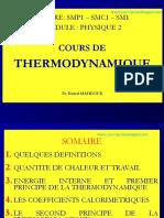 Cours de Thermodynamyque