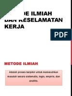 Bhn Ajar Bab I. Metodeilmiah dan Keselamatan kerja PPT